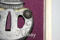 AF-75 Very Rare design Tsuba Tsubo (Vase) design Edo