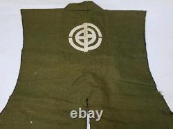 Antique JINBAORI Outerwear YOROI Samurai Armor Edo Busho Green Very Rare