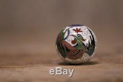 Antique Japanese Cloisonne Phoenix Bead # ojime netsuke RARE #dragon