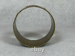 Antique Japanese Meiji Mixed Metal Signed Napkin Ring Bronze Gold Copper RARE