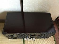Antique Japanese Tansu chest of drawers Isho-dansu Tsuruoka Black lacquered Rare