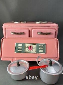Antique Vintage Rare Pink Toy Kitchen Range Japanese Gragstan Corporation Japan