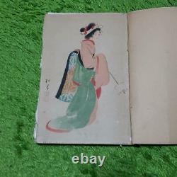 Art Old Book Ukiyoe Kabuki Japanese woodblock print Rare Vintage