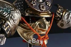 Authentic Vintage Japanese Samurai Kabuto Helmet -Sea Wave Guard- RARE