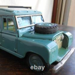 BC Bandai Land Rover Tinplate Retro Toy Antique Super Rare
