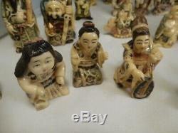 CHINESE Japanese Netsuke Collection Estate Items-Lot Of 38 Rare Netsuke Figures