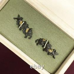D1262 Japanese Edo Samurai Rare motif SHAKUDO KYLIN MENUKI katana koshirae