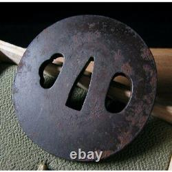 Dragon 6.65 cm Japanese Tsuba Samurai Katana Sword Guard Antique Iron Rare Used