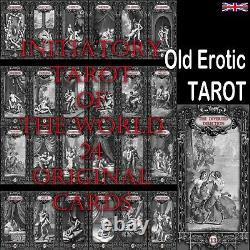 Erotic photo stamps tarot card cards deck rare old vintage drawing art kamasutra