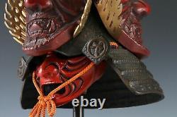Extremely Rare Japanese Samurai Helmet -guardian deity of the three jewels