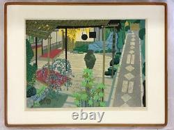 Fumio Kitaoka Japanese Woodblock print Ukiyo-e Ukiyoe Vintage Rare Collector
