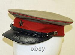 Imperial Japanese Army Cap Hat Gray For Officers 1900-1915 Rare Antique JAPAN