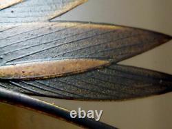 Japan WAJIMA Lacquer Wooden Tea caddy MAYFLY makie Hira-Natsume RARE design 1201