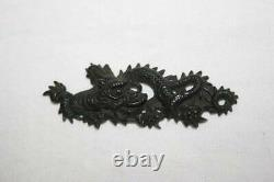 Japan antique Edo period Dragon Big Menuki Copper sword tsuba kozuka katana rare