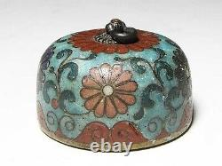 Japan antique Netsuke cloisonne chrysanthemum inro ojime sagemono rare Edo era