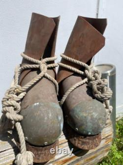 Japanese Antique Divers Diving Helmet Toa Diving Diving Shoes Set Rare Used