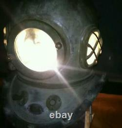 Japanese Antique Divers Diving Helmet Toa Submersible Co, Ltd. Rare Used