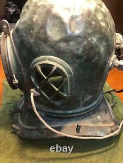 Japanese Antique Divers Diving Helmet Toa diving Lack of screws Rare Used