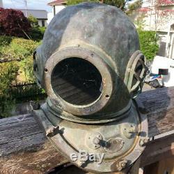 Japanese Antique Diving Helmet Marine Vintage Very Rare Q9