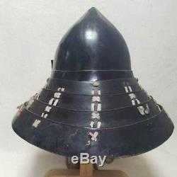 Japanese Antique helmet Kabuto Edo Era Men-yoroi life-size Rare