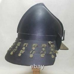 Japanese Antique helmet Kabuto Edo Era Peach helmet Iron Rare Used