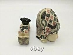 Japanese Carved Erotic Resin Soapstone Netsuke Rare Unique
