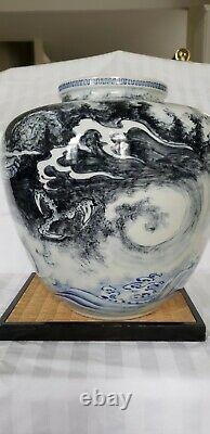 Japanese Dragon Vase Antique 1900's. Very rare piece