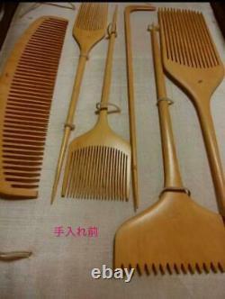 Japanese Hair Comb Antique Tsuge KUSHI Set Kabuki Maiji Taisho Rare from JAPAN