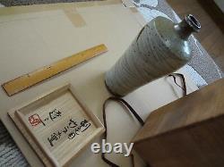 Japanese Mashiko Shimaoka Tatsuzo pottery vase japan RARE