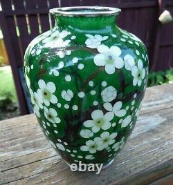 Japanese Plique-a-jour Cloisonne Vase Rare Cherry Blossom Design Excellent