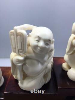 Japanese Seven Gods of happiness/Shichifukujin. Rare, antique 1920s