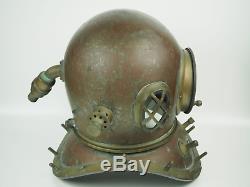 Japanese Vintage Diving Helmet KIMURA IRONWORKS Antique Diving Gear Rare
