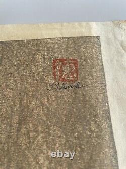 Japanese Woodblock Print Tokuriki Tomikichiro CAT limited 36 Very Rare