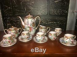 Japanese original Antique Eggshell Porcelain Tea Set Excellent Cond-Very Rare
