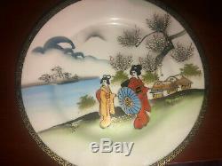 Japanese original Antique Geisha Eggshell Porcelain Tea Full Set Very Rare