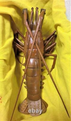 Jizai Okimono Muneyuki Myochin Lobster Statue 1968 Used Retro Rare from Japan
