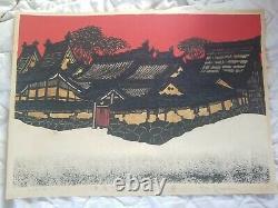 Kan Kawada Japanese Woodblock Print, Rare 29/30