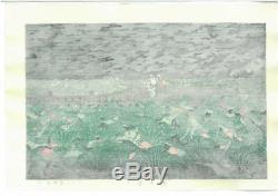 Kawase Hasui Japanese Woodblock print 220 x 350 mm Ukiyoe Rare Vintage Collector