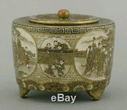 Magnificent Rare Japanese Meiji Satsuma Kogo/ Box, Hankinzan Meizan
