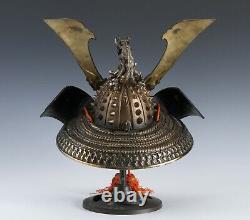 Massive Vintage Japanese Samurai Helmet -Great Dragon- with a mask Rare