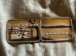Miyamoto-Shoko. 950 Sterling Silver Geisha GirL Cigarette Case, RARE