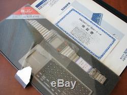 NEW RARE Vtg. Limited Japanese ed. 1983 NOS SEIKO UC2000 LCD wrist computer set