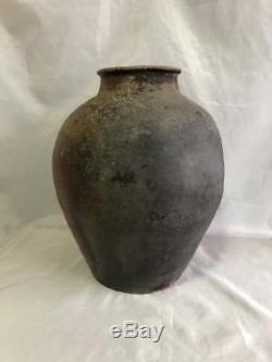 Old Bizen urn Antique Muromachi Edo Period rare useful EMS F/S
