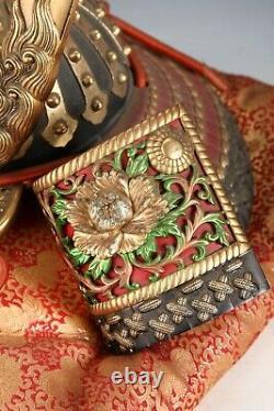 Old Vintage Japanese Samurai Helmet -Buddhism Kabuto- with a cushion Super Rare