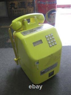 Public Phone Yellow Telephone Antique Super Rare Payphone Vintage Retro Japanese
