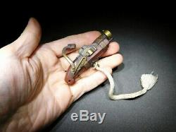 RARE 19thC Edo period Hinawaju Matchlock TEPPO-NETSUKE Japanese Antique