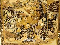 RARE 19th C. JAPANESE MUSEUM QUALITY MEIJI PERIOD SATSUMA CRACKER JAR