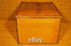 RARE ANTIQUE JAPANESE SMALL TANSU PERSONAL STORAGE BOX / with Small Pocket Doors