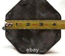 RARE Antique East Asian Tetsubin Cast Iron Painted Panel Teapot