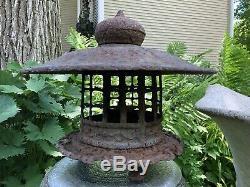 RARE Antique Japanese Cast Iron Pagoda